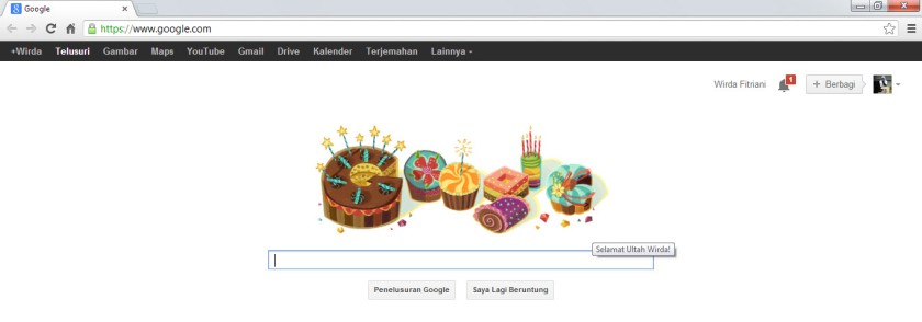 happy bday me from google