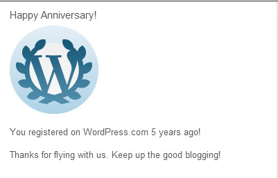 5th Anniversary with WordPress