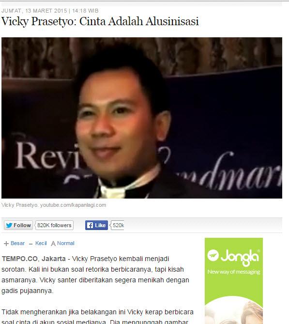 Arti Bahasa Inggrisnya Naik: Media Dan Vickynisasi
